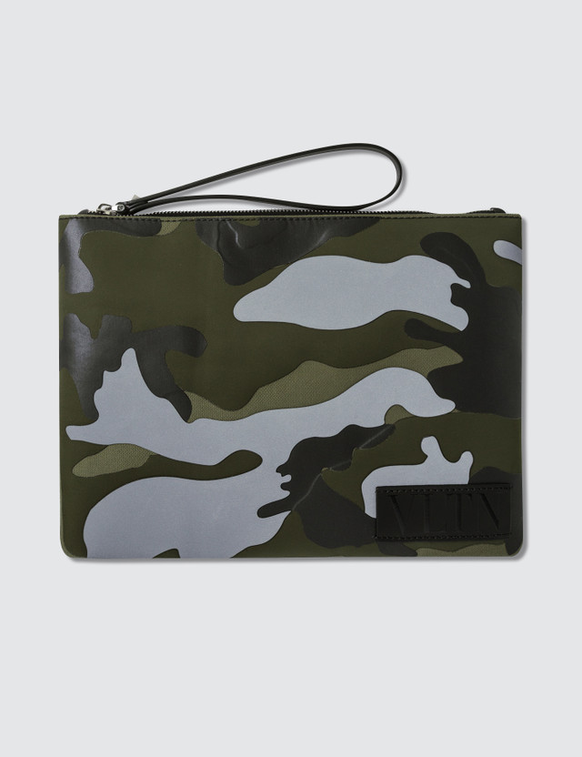 Valentino Large Pouch with Leather Hand Strap