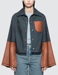 Loewe Button Jacket With Leather Cuffs Picutre