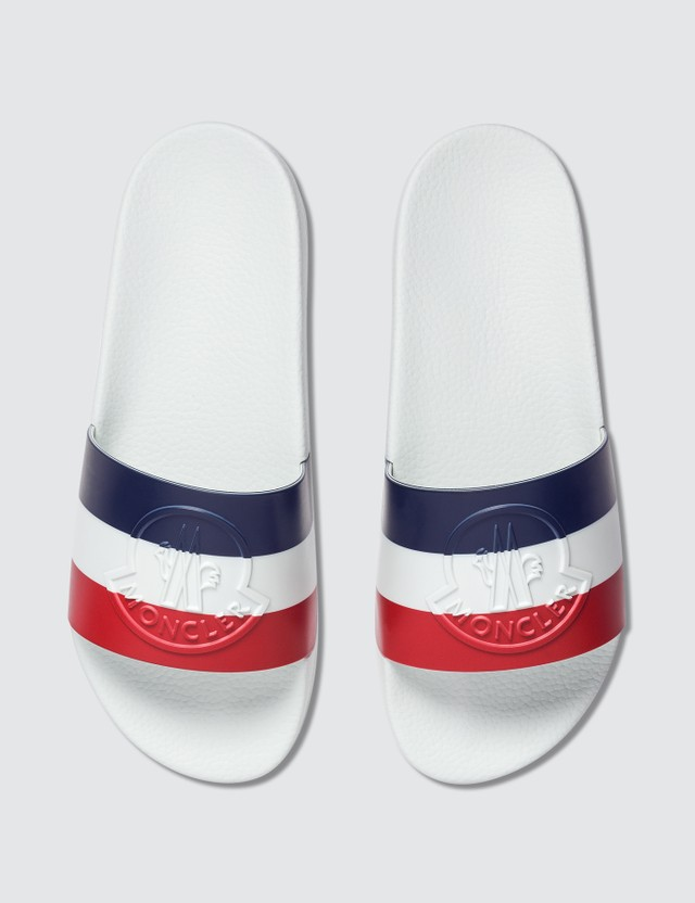 Moncler Rubber Slide White Men