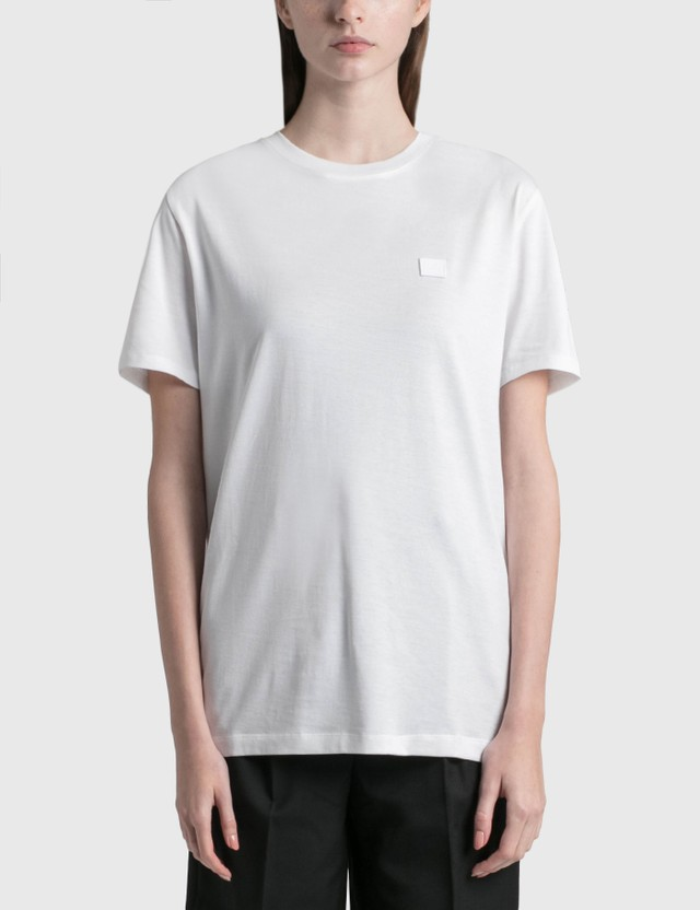 Acne Studios Face Patch T-shirt Optic White Women
