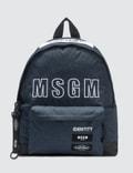 MSGM Msgm X Eastpak Denim Logo Backpack Picture