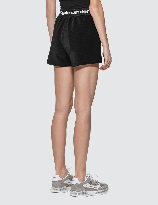 Alexander Wang.T Stretch Corduroy Shorts With Logo Elastic