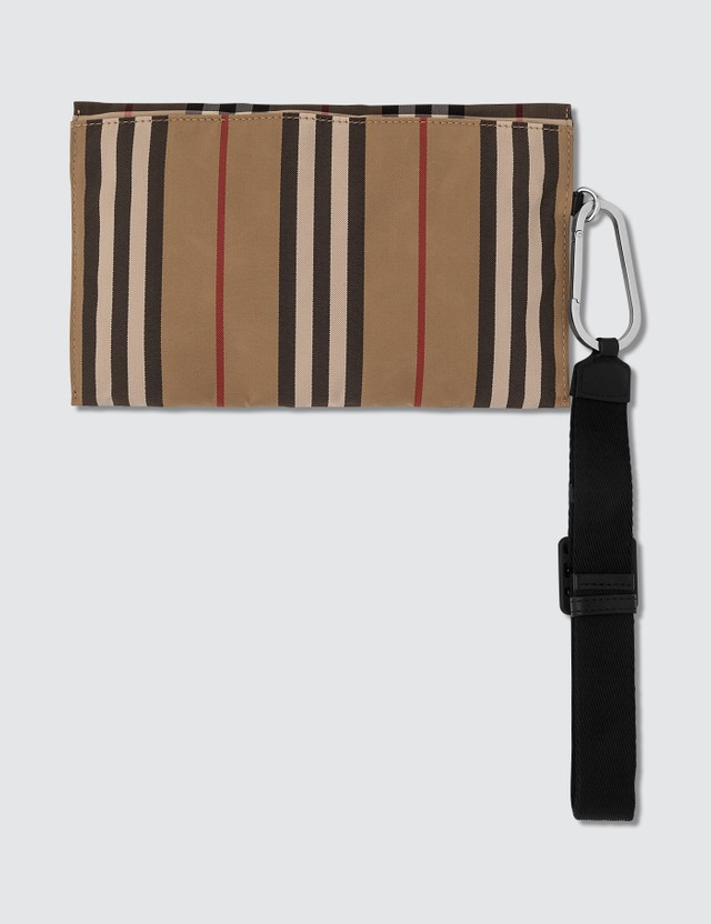 Burberry Nylon Check Zip Pouch
