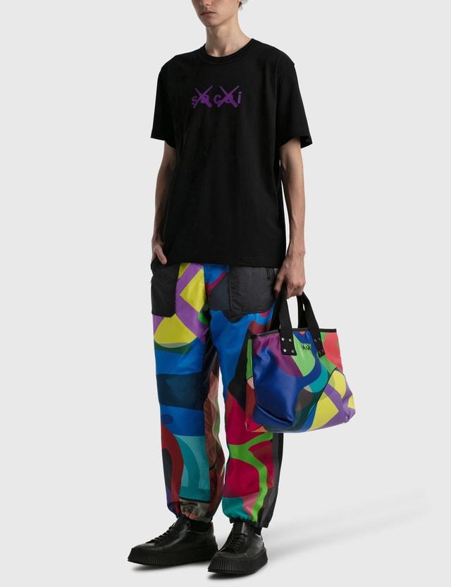 Sacai KAWS Flock Print T-shirt