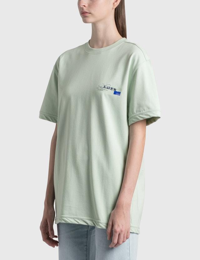 Ader Error Foil Tape Logo T-Shirt Green (green) Women