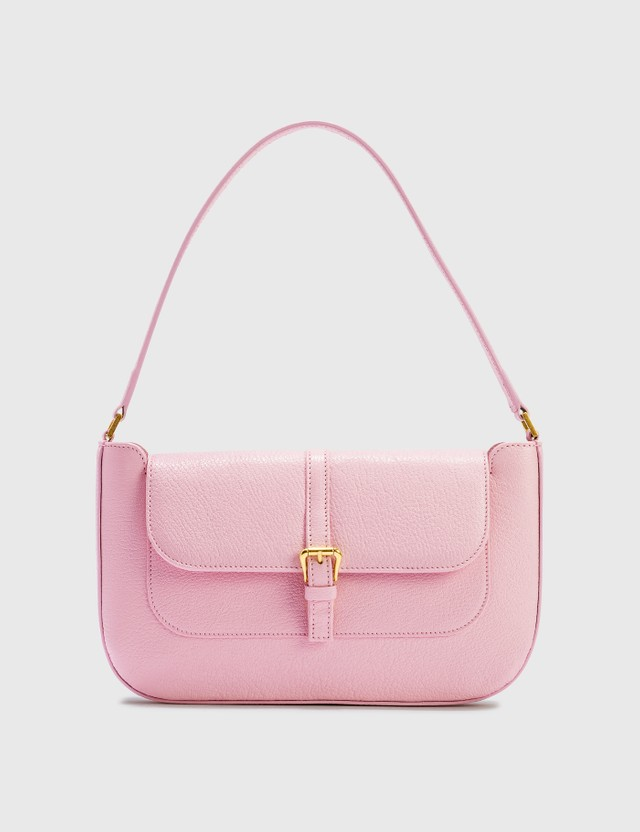 BY FAR Miranda Peony Grained Leather Bag Peony Women