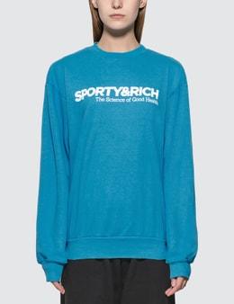 Sporty & Rich Science Crewneck Sweatshirt