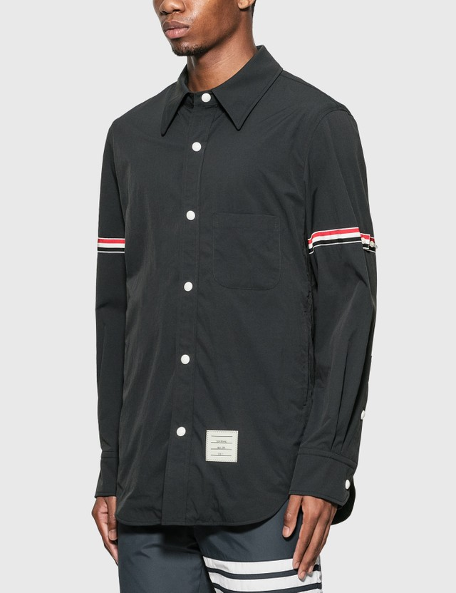Thom Browne Grosgrain Arm Band Shirt Jacket Navy Men