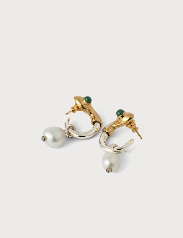 Chloé Snake Pearl Drop Earrings