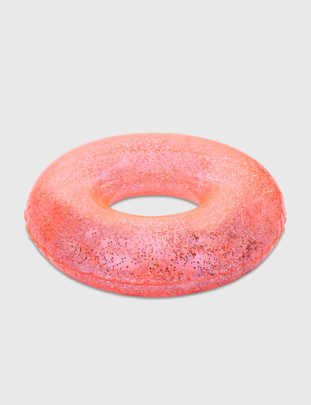 Sunnylife Pool Ring – Neon Coral Glitter Orange Life
