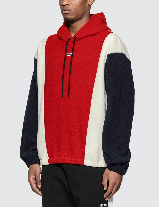 MSGM Colorblock Fleece Hoodie