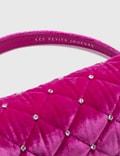 Les Petits Joueurs Bon Bon Quilted Crystal Mini Bag Magic Pink Velvet Women
