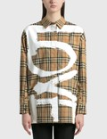 Burberry Brigitte Shirt Archive Beige Ip Chk Women