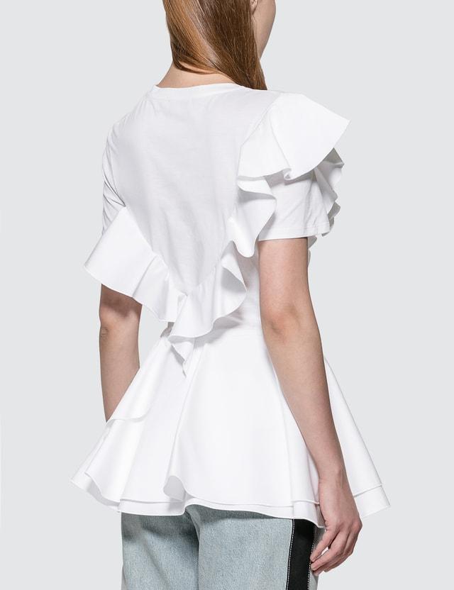 Alexander McQueen Peplum Ruffle T-shirt
