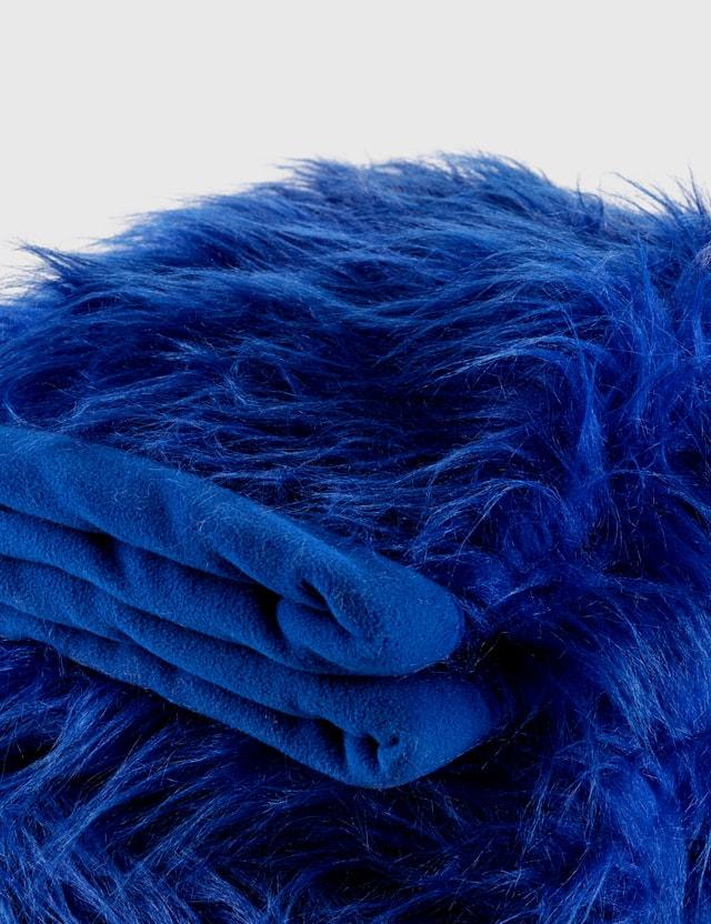 Crosby Studios Blue Faux Fur Blanket Blue Unisex