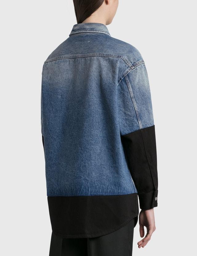 MM6 Maison Margiela Patched Denim Shirt Stone Vintage Women