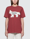 Maison Kitsune Fox Handwriting Short Sleeve T-shirt Picture