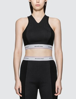 Alexander Wang.T Wash & Go Logo Bra Top