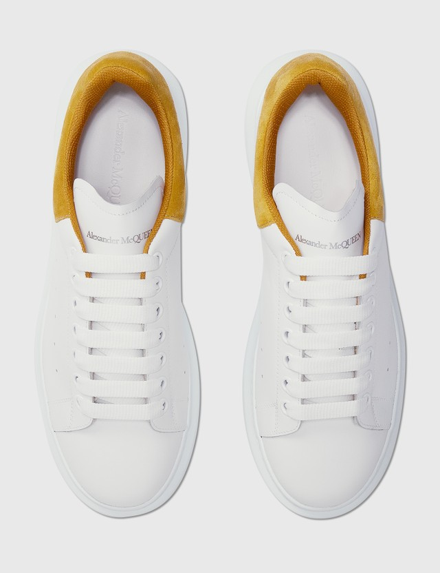 Alexander McQueen Oversized Sneaker White/mineral Yellow Men