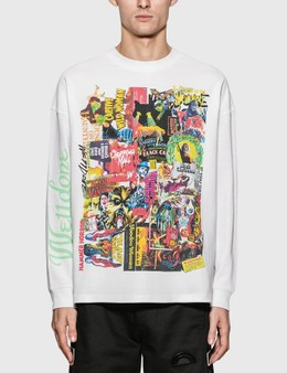 We11done Horror Collage Long Sleeve T-Shirt