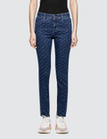 Stella McCartney Allover Logo High Waisted Skinny Jeans Picture