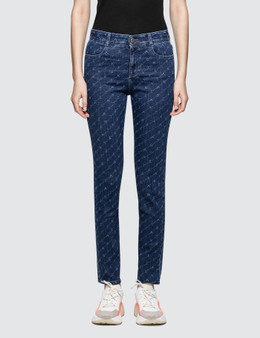 Stella McCartney Allover Logo High Waisted Skinny Jeans