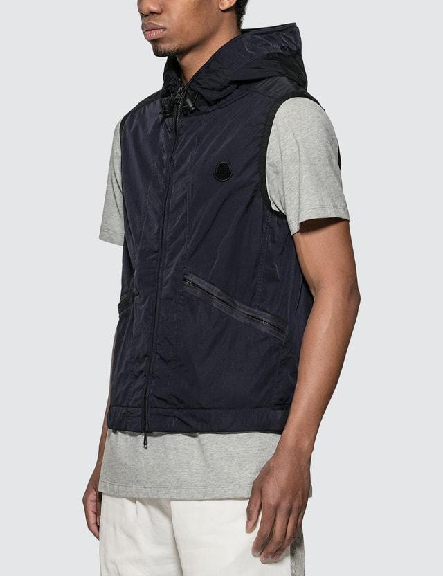 Moncler Touques Jacket Vest Navy Men