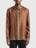 Casablanca Silk Twill Laurel Monogram Dark Shirt 사진