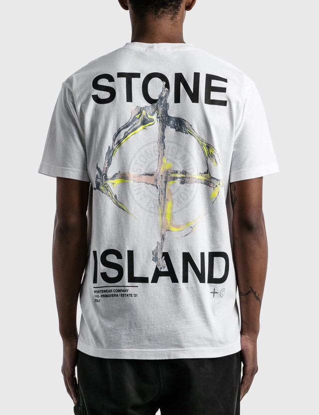 Stone Island Large Back Logo T-Shirt White Men