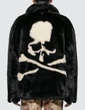 Mastermind World Faux Fur Jacket With Skull Logo Picture