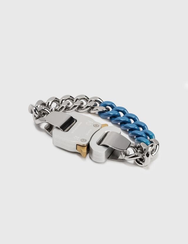 1017 ALYX 9SM Colored Links Buckle Bracelet Silver/electric Blue Women
