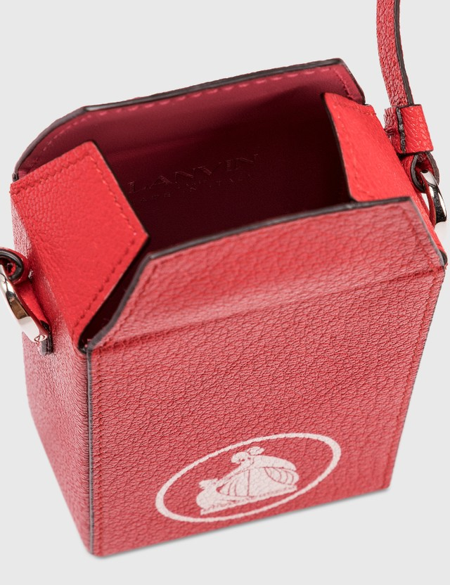 Lanvin Cross Body Cigarette Box Red Women