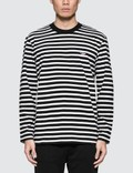 Maison Kitsune Tricolor Fox Patch Marin Long Sleeve T-Shirt Picture