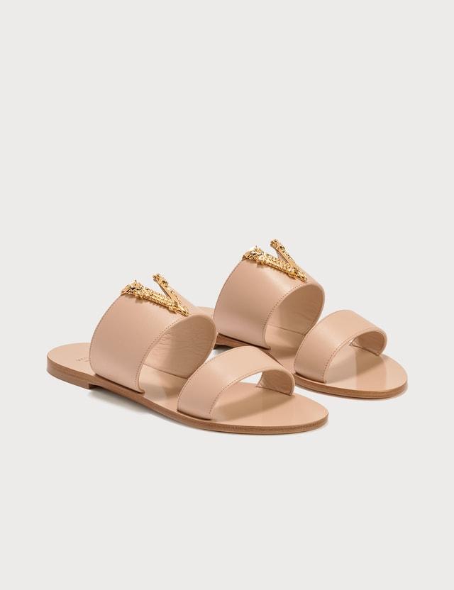 Versace Virtus Logo Sandals