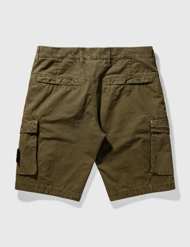 Stone Island Flap Pockets Cargo Shorts Olive Men