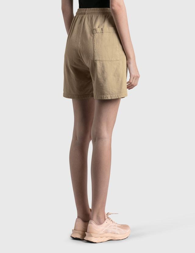 Sporty & Rich Science Shorts Nutmeg/yellow Women