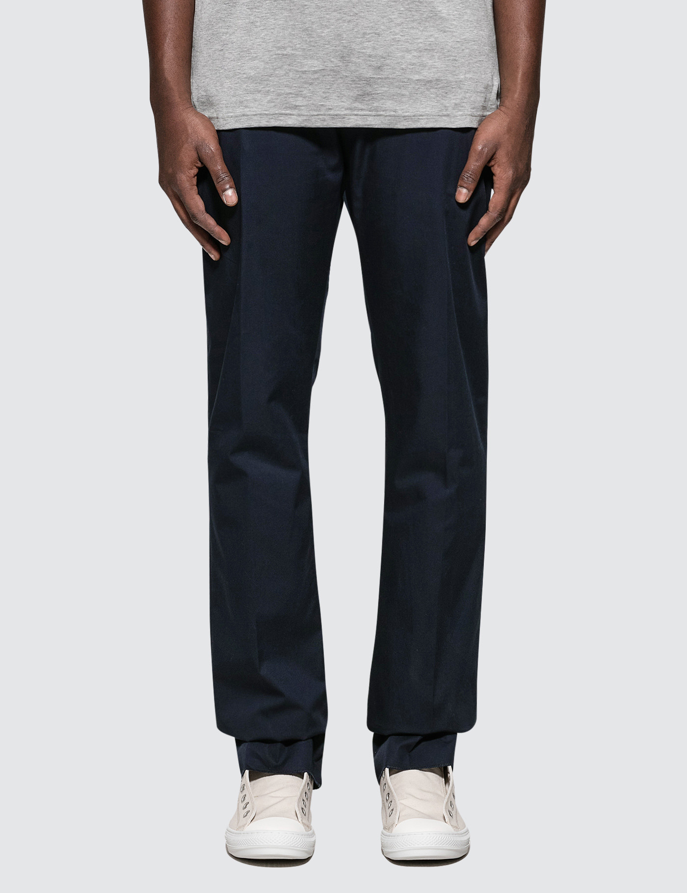 Fitted Pants with Cord On Belt
