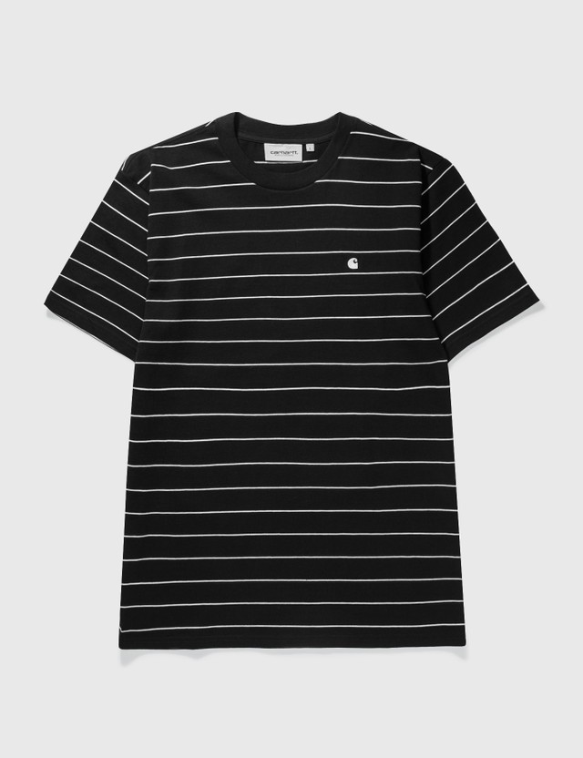 Carhartt Work In Progress Denton T-shirt Denton Stripe, Black / Wax Men