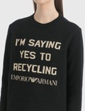 Emporio Armani R-EA Show Knitted Sweater Black Women