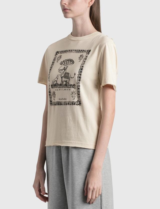 Acne Studios Ebilly Frame T-shirt Coconut White Women