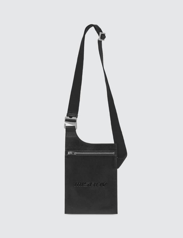 Misbhv Leather Crossbody Pouch Black Men