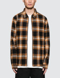 Stussy Zip Up Shadow Plaid L/S T-Shirt Picture