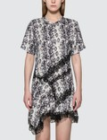 KOCHÉ Python Print Panel Dress