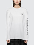 CALVIN KLEIN JEANS EST.1978 Modernist Logo Long Sleeve T-shirt Picture