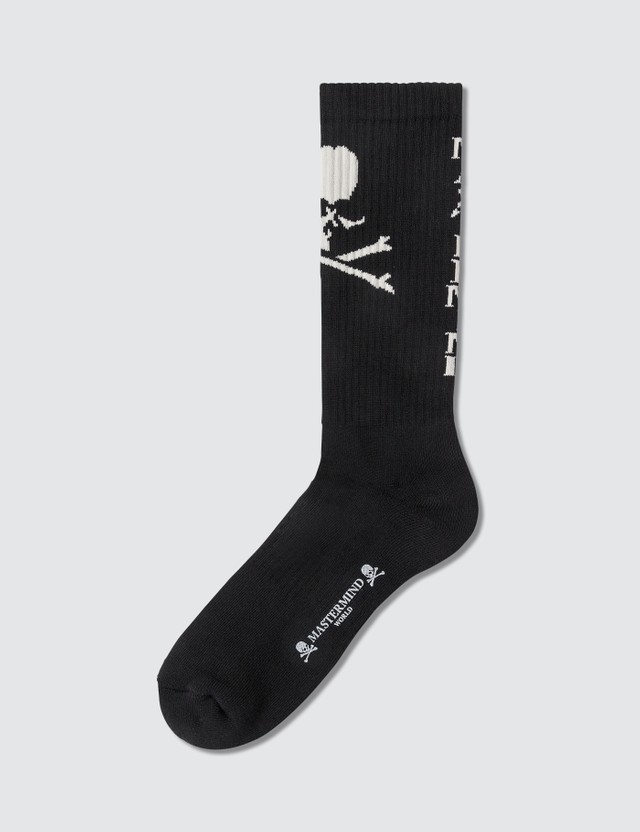 Mastermind World Skull Logo Print Socks
