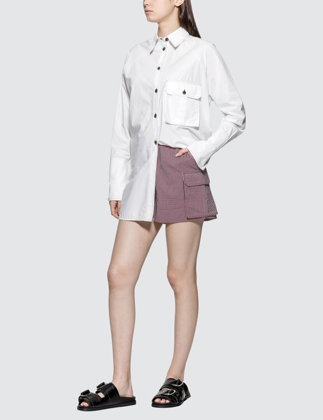Ganni Cotton Poplin Oversized Shirt