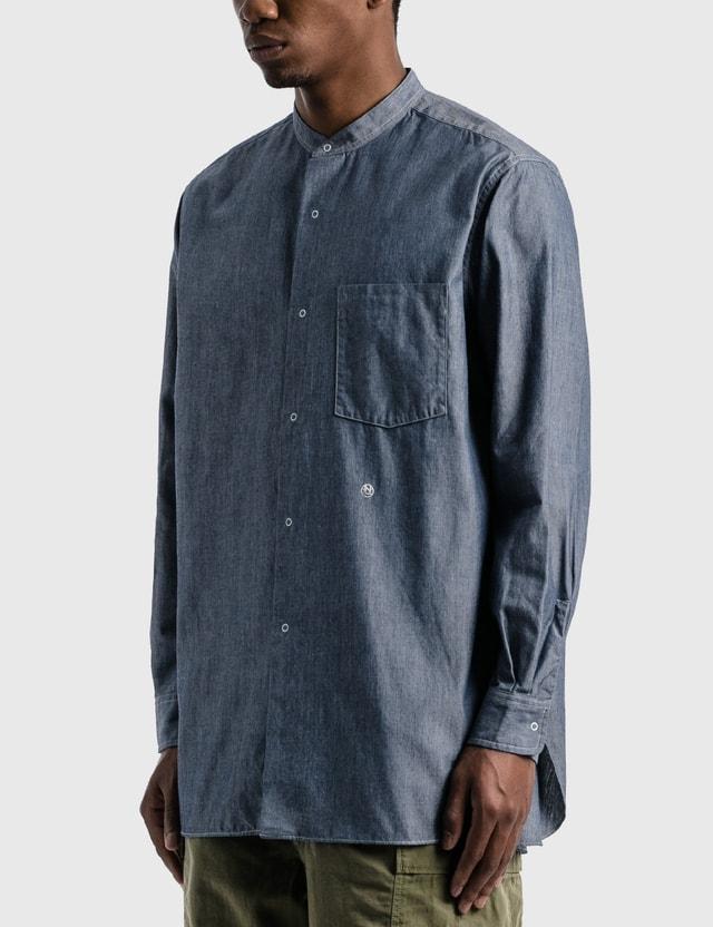 Nanamica Band Collar Wind Shirt Indigo Id Men