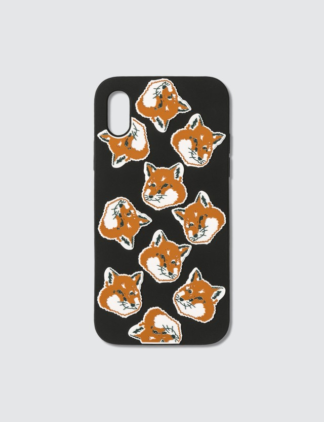 Maison Kitsune All-Over Fox Head iPhone X Case