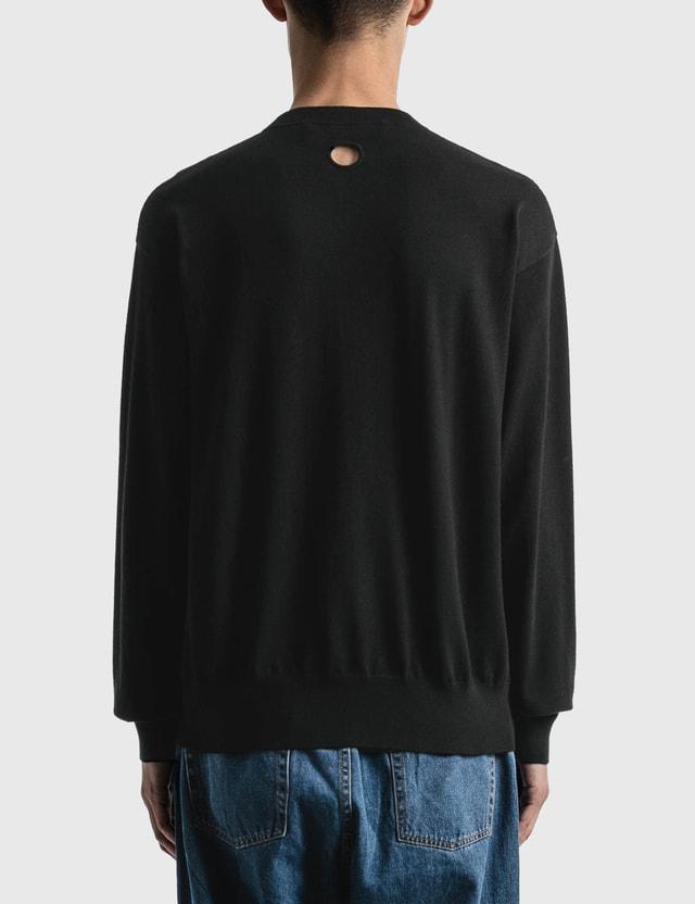 Off-White Off White Logo Basic Knitted Sweater Black White Men