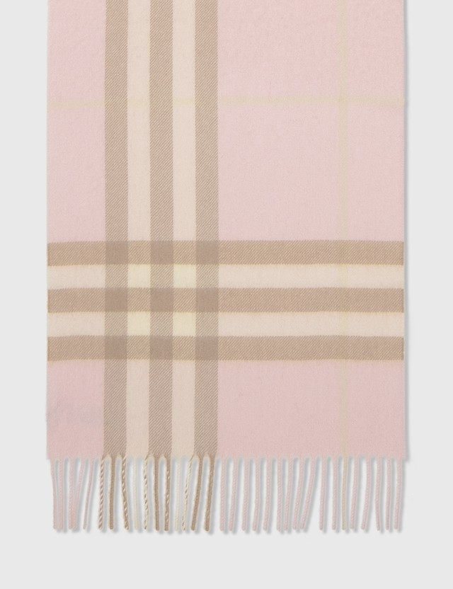 Burberry Classic Check Cashmere Scarf Alabaster Women